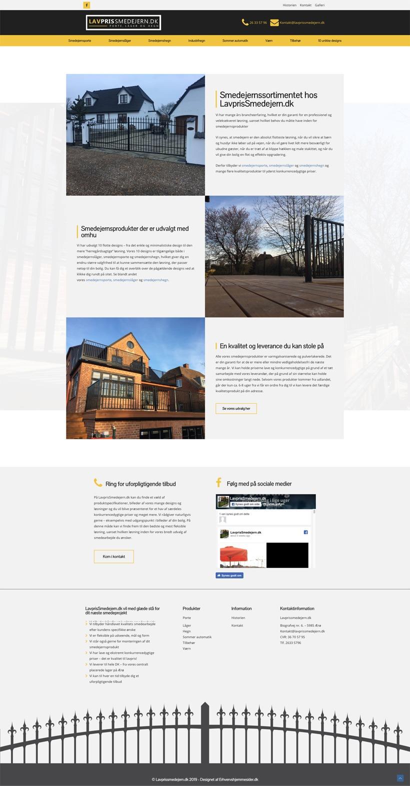 Lavprissmedejern hjemmeside