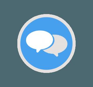 chat bobler ikon til hjemmeside pris