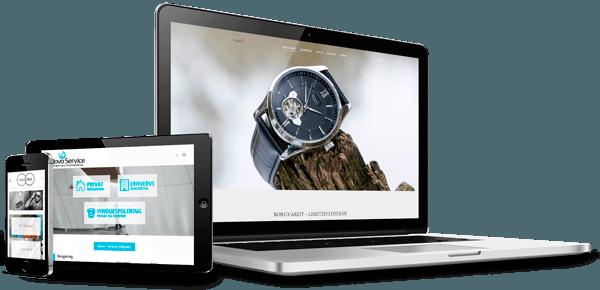 3 skærme med responsiv design