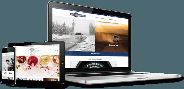 Webshops vist på 3 skærme