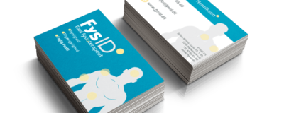 2 stak visitkort af FysID