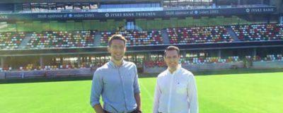 Simon og Samuel på silkeborg stadion