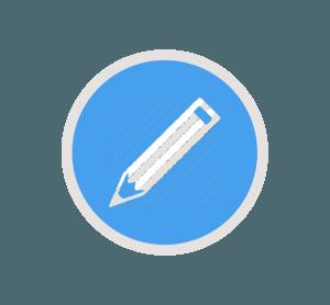 blyant ikon til hjemmeside pris
