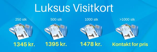 Luksus visitkort - priser