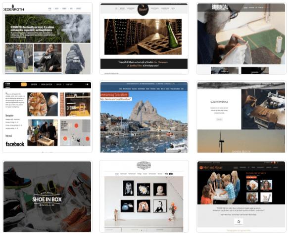 Webshop design inspiration