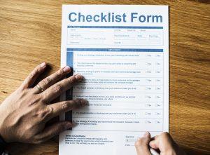 checklist formular