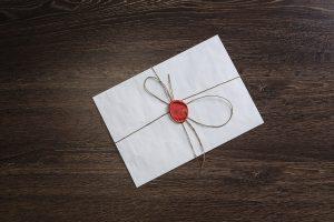 brev pakket ind som nyhedsbrev i WordPress
