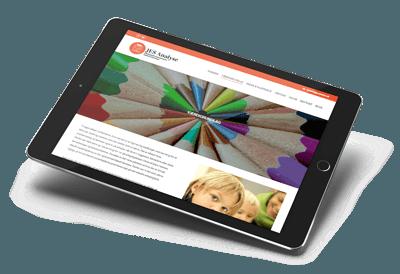Jesanalyse hjemmeside set på tablet