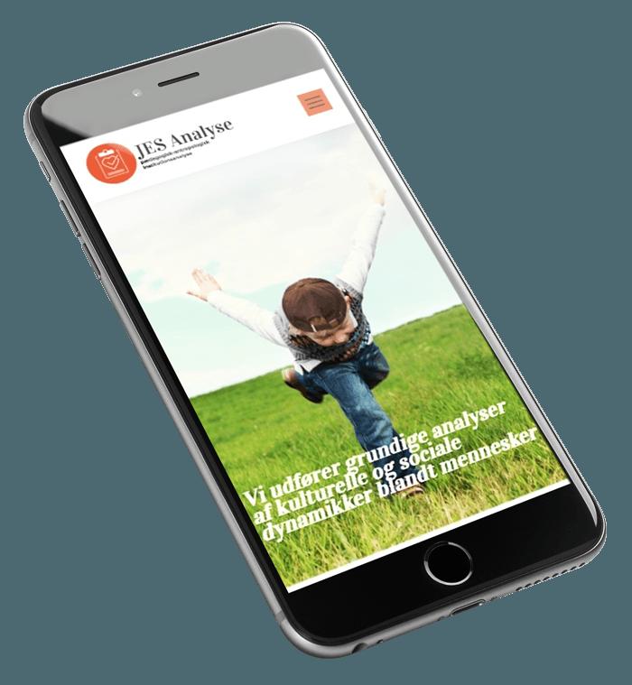 Jesanalyse udseende på en skrå mobil